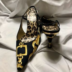 Dolce & Gabbana Blk Chain Kitten Heels #9268 6135